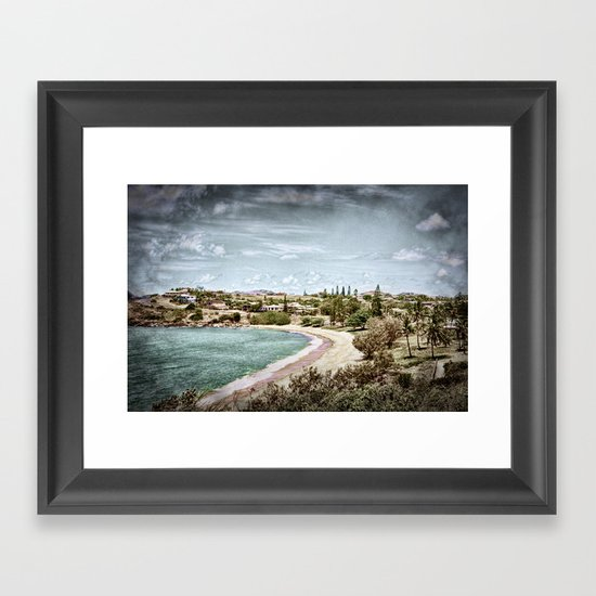 Living by the ocean Framed Art Print