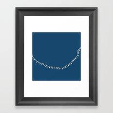Vintage Beads on Navy Framed Art Print