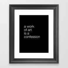 work of art black Framed Art Print