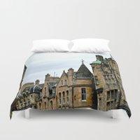 edinburgh Duvet Covers featuring Edinburgh, Cockburn street by EmL-T