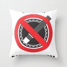 Banjo Free Zone Throw Pillow