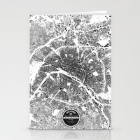 paris map Stationery Cards featuring PARIS by Maps Factory