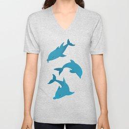 Blue Dolphin Unisex V-Neck