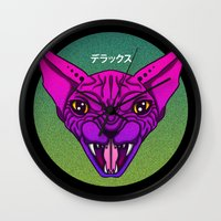 sphynx Wall Clocks featuring SPHYNX by SHIN DE☆LUXE