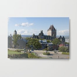 Old Quebec City featuring Château Frontenac Metal Print