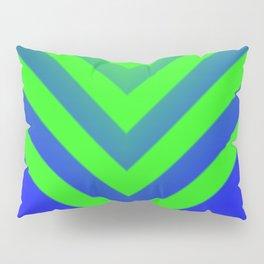 Blue & Green Chevron Pillow Sham
