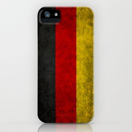 German National flag, Vintage retro patina iPhone Case
