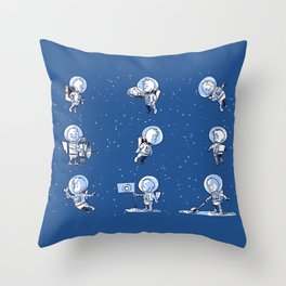Little Astronauts Throw Pillow