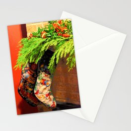 The Stockings were Hung Stationery Cards