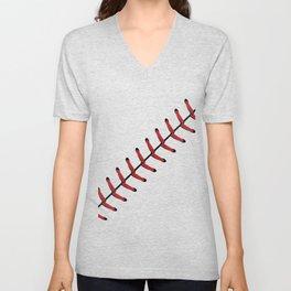 Baseball Lace line Unisex V-Neck