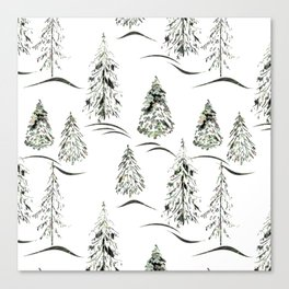 Winter forest. Canvas Print