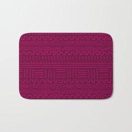 Mud Cloth in Raspberry Bath Mat