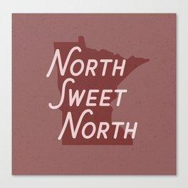 North Sweet North - MN Canvas Print