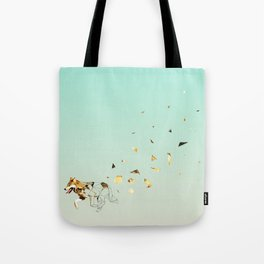 Fragmented Wolf Tote Bag