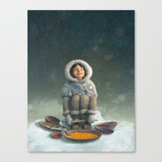 Winter Girl Canvas Print