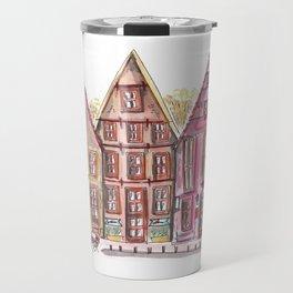 Coloured houses II Travel Mug