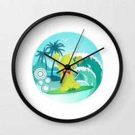 Summer Skim Wall Clock