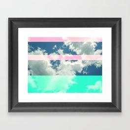 Rainbow Fluff Framed Art Print