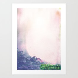 Romantic alp sunrise Art Print