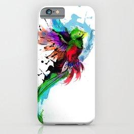 Watercolor Quetzal  iPhone Case