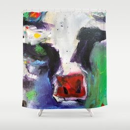 Funky Cow Medina Shower Curtain