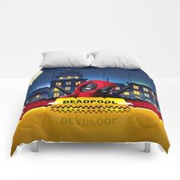 Dead Pool Taxi Night Comforters