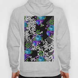 MODERN TOILE BLACK AND WHITE PATTERN Hoody