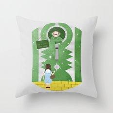 Please Knock Throw Pillow