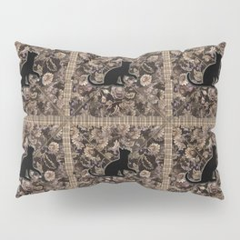 square black floral kitty Pillow Sham