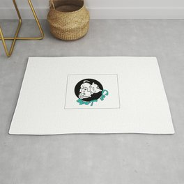 Cat Lady Colorful Rug