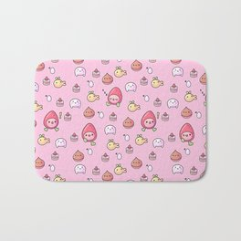 Ichigotchi Tamagotchi Pattern Bath Mat