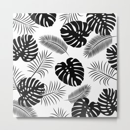 TROPICAL LEAVES 7 Metal Print