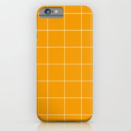 Graph Paper (White & Orange Pattern) iPhone Case