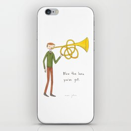 blow the horn you've got iPhone Skin