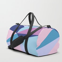 Geometrical pink teal lilac modern colorblock Duffle Bag