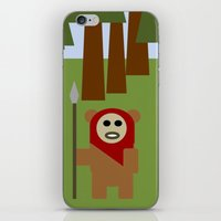 ewok iPhone & iPod Skins featuring Wicket the Ewok- Tree Hugger by Robin Stevens