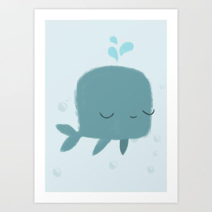 happy whale Art Print