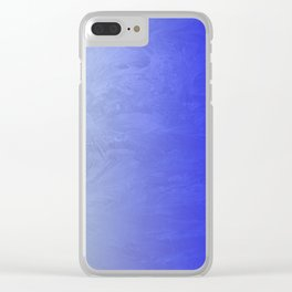 Blue Ice Glow Clear iPhone Case