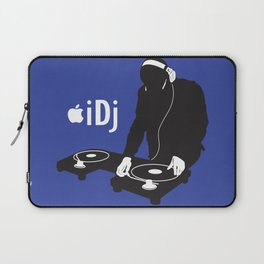 I DJ (Blue) Laptop Sleeve