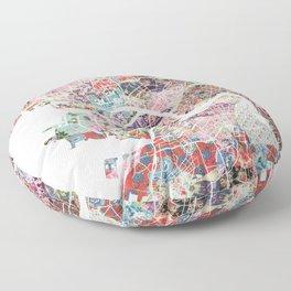Saint Petersburg map Floor Pillow