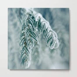 Winter Landscape- Covered in Snow Metal Print