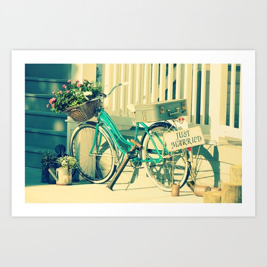 Just Married! Art Print