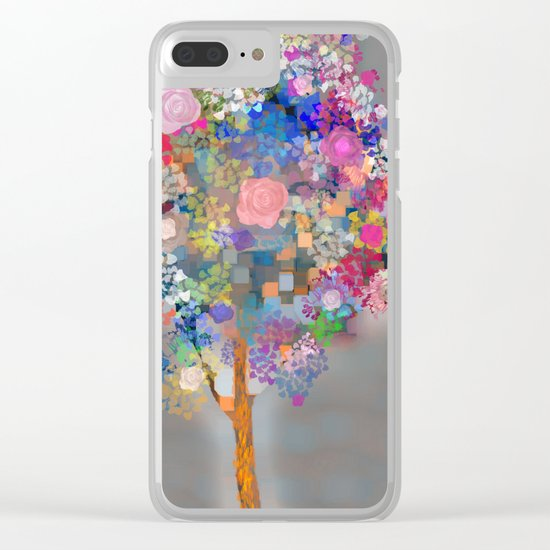 Floral abstract(56) Clear iPhone Case
