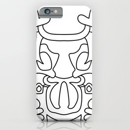 Mirrored mask doodle iPhone Case
