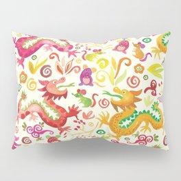Scared dragons Pillow Sham