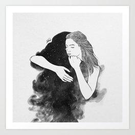 Ordinary hug. Art Print