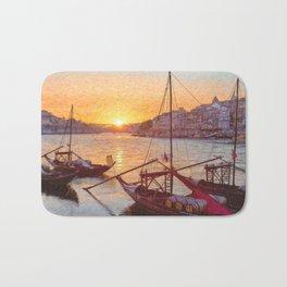 Porto sunset, Portugal Bath Mat