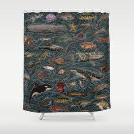 Sea & Ocean Life Maritime Pattern Shower Curtain