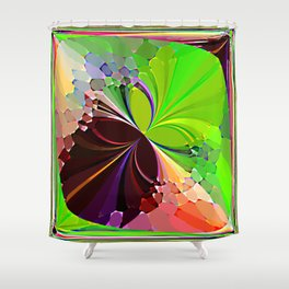 Re-Created ButterfliesIX by Robert S. Lee Shower Curtain