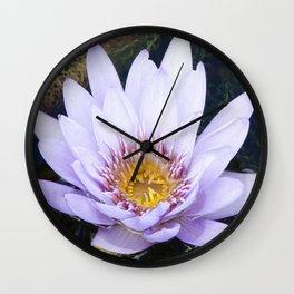 Blue Lotus Flower Wall Clock
